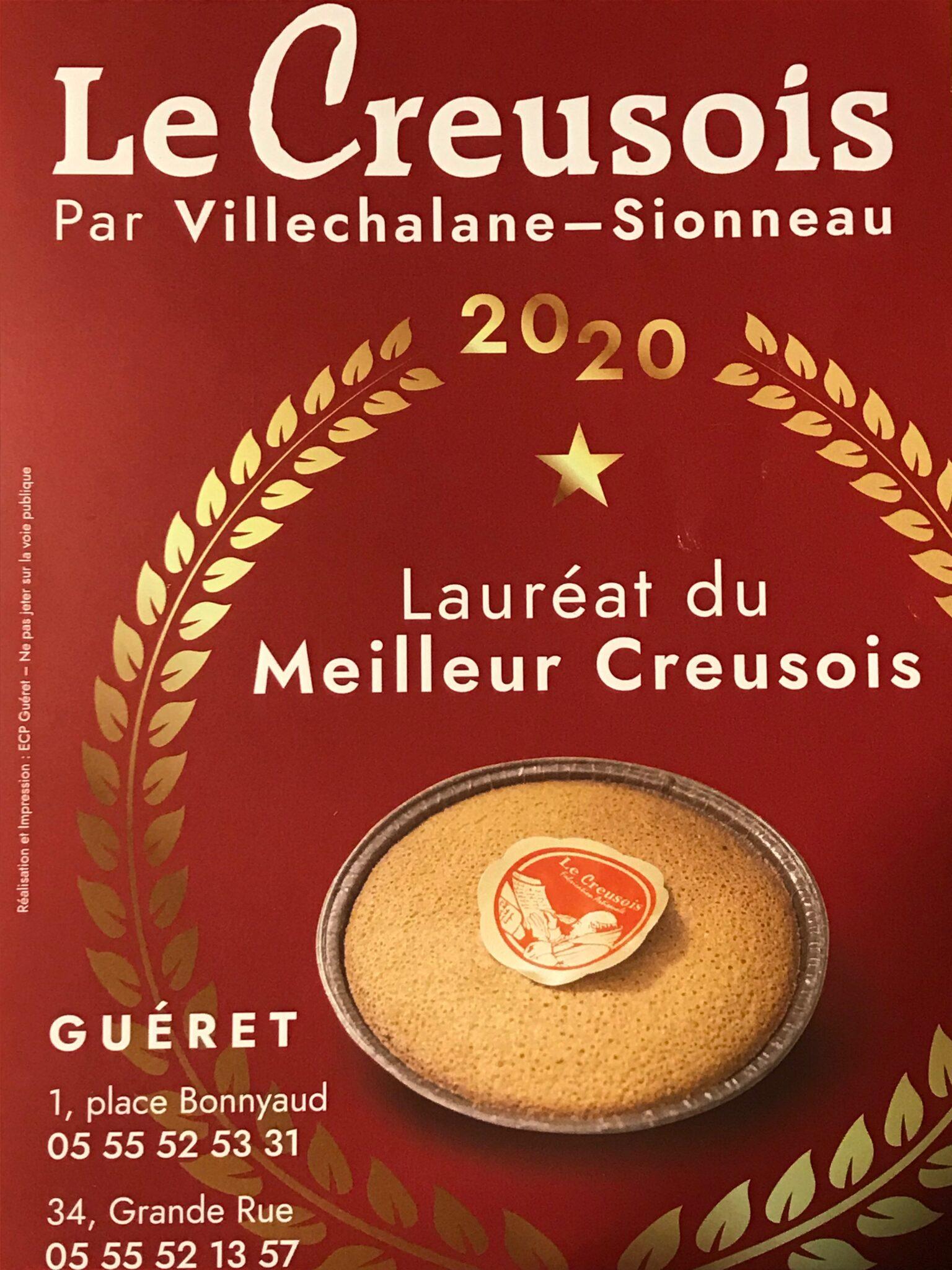 Lauréat du meilleur Creusois de Guéret | Villechalane-Sionneau